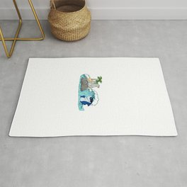 Funny Do Not Consume If Seal Is Broken Seal Shark Rug