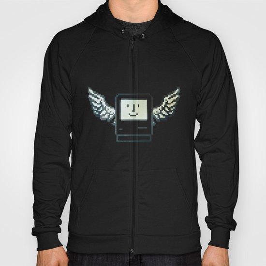 pixel mac with wings Hoody