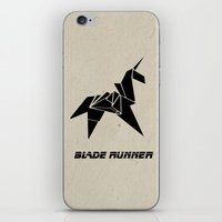 blade runner iPhone & iPod Skins featuring Blade Runner - Rachel's Origami by Thecansone