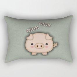 Cute Pink Pig Oink Rectangular Pillow