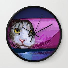 Burrito Cat Meme Wall Clock