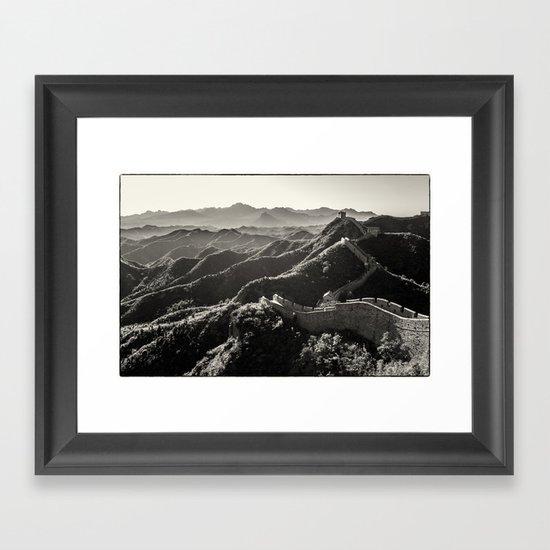 Great Wall of China Framed Art Print