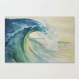 Incoming Energy Wave Canvas Print