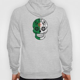 Sugar Skull with Roses and Flag of Algeria Hoody