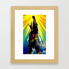 THE SYMBOL OF PEACE - ALL MIGHT Framed Art Print