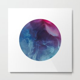 blue purple pink smoke - colorful Metal Print