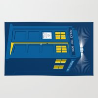 tardis Area & Throw Rugs featuring TARDIS by Digital Arts & Crafts by eXistenZ
