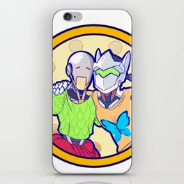 Human and Robot Love - Zenyatta & Genji iPhone Skin