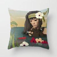 sad Throw Pillows featuring Sad by ANVIK