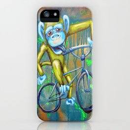 Bicycling Monkey iPhone Case