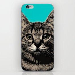 Cat. Pop art cat iPhone Skin