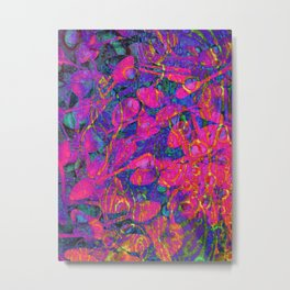 Psychedelic abstract spoons Metal Print