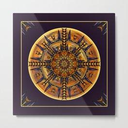 Hieroglyph Moth Mandala 3 Metal Print