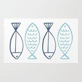 Fishy Fishy - Blue Rug
