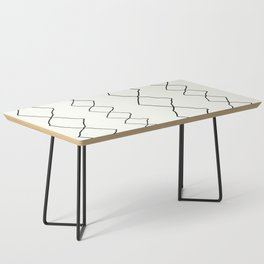 Moroccan Diamond Stripe in Black and White Coffee Table