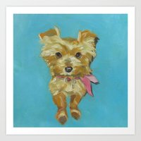 terrier Art Prints featuring Terrier by Dani Brandimarte