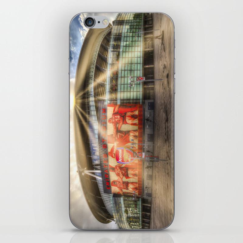 Arsenal Football Club Emirates Stadium London Sun … Iphone & Ipod Skin by Davidpyatt PSK8797484