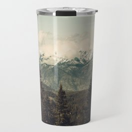 Snow capped Sierras Travel Mug