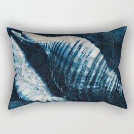Indigo seashell Rectangular Pillow