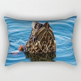 Mallard Duck Dabbling Rectangular Pillow