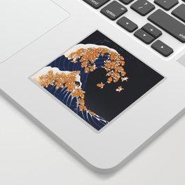 Shiba Inu The Great Wave in Night Sticker