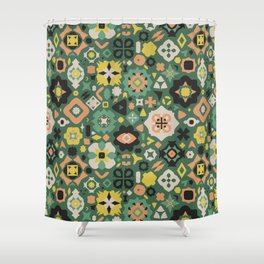 A Little Bit Folky Shower Curtain