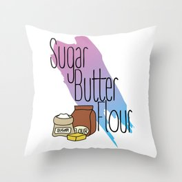 Sugar Butter Flour Throw Pillow