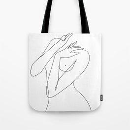 wake woman line Tote Bag