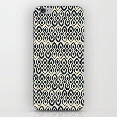 brocade indigo ivory iPhone Skin