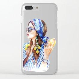Lemon Girl Clear iPhone Case