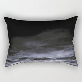 BLACK & BLUE & WHITE TOUCHING #2 #abstract #decor #art #society6 Rectangular Pillow