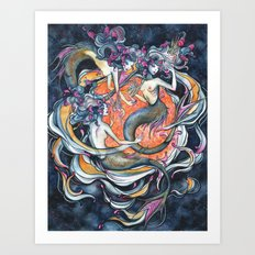 Mermaids in Space Art Print