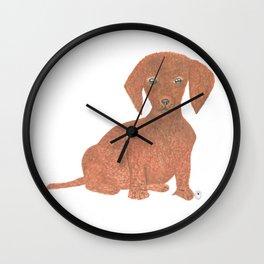 Daffodil the Dachshund Puppy Wall Clock
