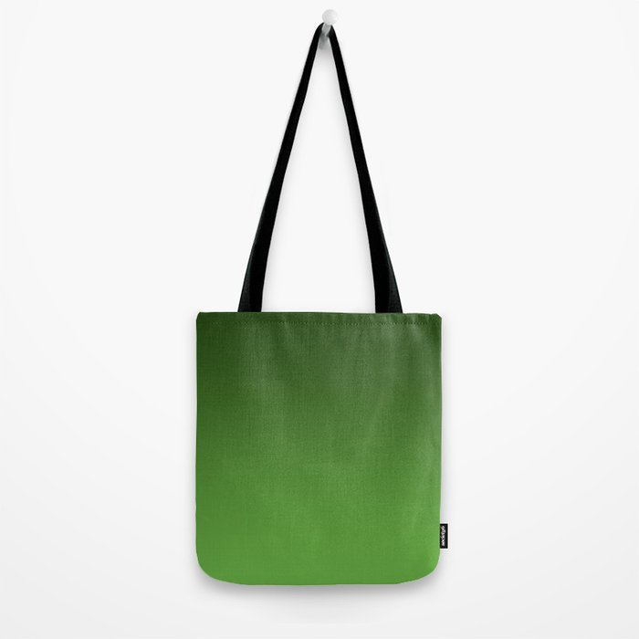 Green Ombré Gradient Tote Bag