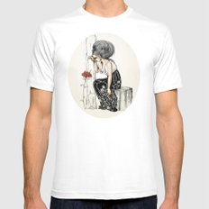 Romantic Mens Fitted Tee SMALL White