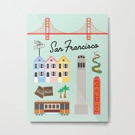 San Francisco Art Print Metal Print
