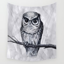 Black Water Owl Wall Tapestry