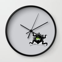 soul eater Wall Clocks featuring Eater by Haragos