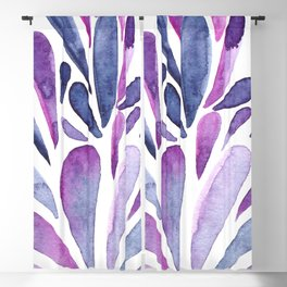 Watercolor artistic drops - purple and indigo Blackout Curtain