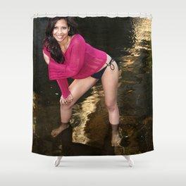Hispanic Beauty Shower Curtain