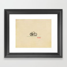 I Thought Of That While Riding My Bicycle Einstein Framed Art Print