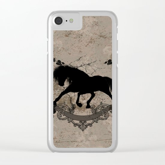 Horse silhouette Clear iPhone Case