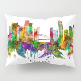 Denver Colorado Skyline Pillow Sham