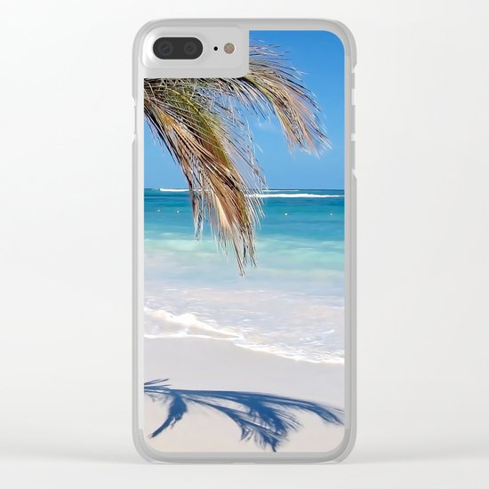 Landscape | Palm and Beach | Life's a Beach! | Nadia Bonello Clear iPhone Case