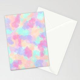 Modern Art Girly Pink Purple Paint Splotches Stationery Cards
