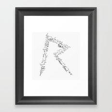 Rihanna 's R Framed Art Print