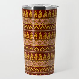 Thai Fabric Patterns - Temple Colour Palette Travel Mug