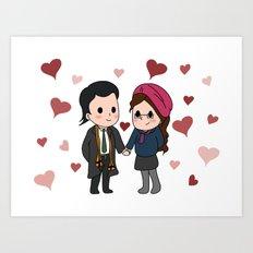 Tasertricks Valentine Art Print