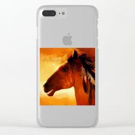 HORSE - Apache Clear iPhone Case
