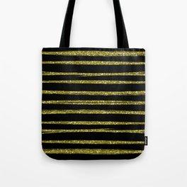 gold stripes Tote Bag